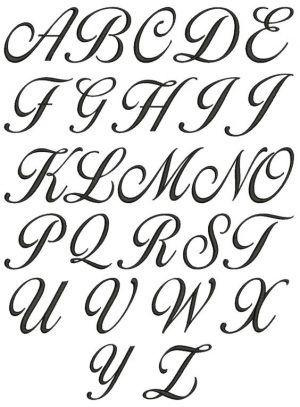 Moldes De Letras Cursivas Para Imprimir Abecedario En Letra Grande Cursive Fonts Alphabet Lettering Alphabet Cursive Calligraphy