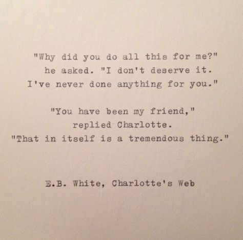 Friendship E.B.+White+Quote+Hand+Typed+on+Vinatge+Typewriter+by+farmnflea,+$10.00