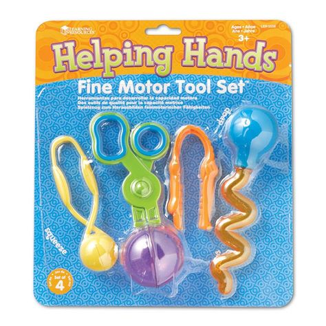 Learning Resources Helping Hands Fine Motor Tool Set Four of our finest tools conveniently packaged together! Help students develop fine-motor skills and Sensory Toys, Sensory Activities, Preschool Activities, Autism Preschool, Toddler Fine Motor Activities, Preschool Supplies, Preschool Centers, Weather Activities, Autism Classroom