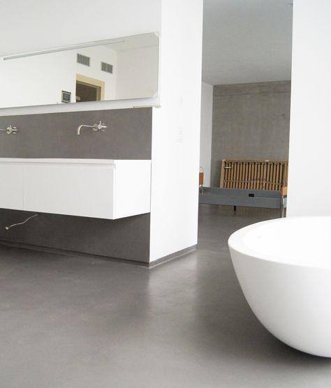 Bad Beton Purismus In Diesem Fugenlosen Bad Mit Klaren Linien By Fugenlos Modern De Bad Badezimmer