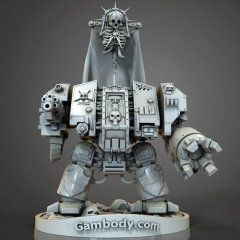 Chaplain 40k 3D Printing Figurine | Assembly | Chaos Space