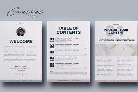 Ebook Canva Template Ebook Template Workbook Template Simple Business Cards