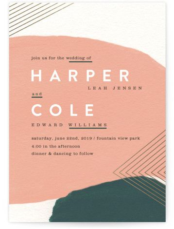 Foil-Pressed Wedding Invitations by Minted | Artful Oneness Wedding Invitations | Wedding
