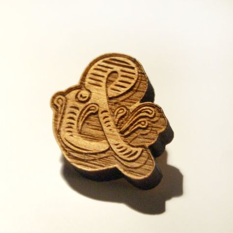 Ampersand Brooch - perfect brooch for guys and those graphic designers and artists who are obsessed with type / typography, signage and fonts ofcourse!   by Vividplease on Etsy and a few available at reduced price of £10.00
