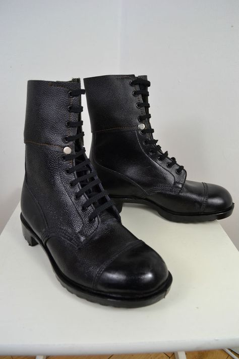 fc4d3a253e2b7 VINTAGE 1980's BLACK BRITISH ARMY ISSUE COMBAT BOOTS UK SIZE 8