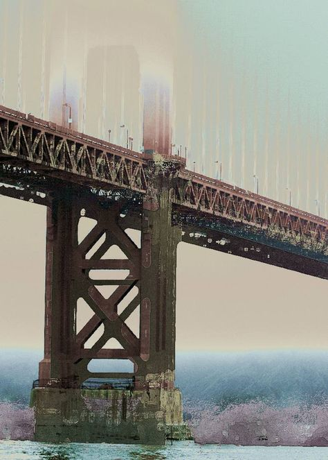 Original Architecture New Media by Hal Brandes   Conceptual Art on Paper   THE BRIDGE - Limited Edition 2 of 15