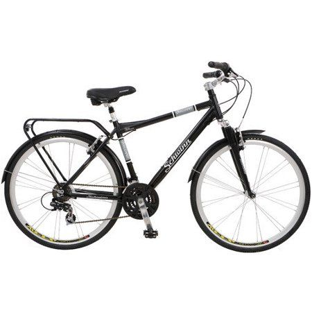 Schwinn Discover 700c Hybrid Bicycle With Full Fenders And Rear Cargo Rack Walmart Com Hybrid Bicycle Hybrid Bike Schwinn