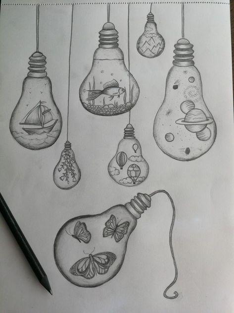 #drawings #drawings #tekenen #bulbs #bulbs #light #light #bulb #bulbLight bulb drawings -