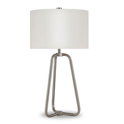 Madok Table Lamp In Brushed Nickel Nickel Table Lamps Nickel Lamps Lamp