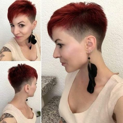 Damen sidecut Undercut Frisuren