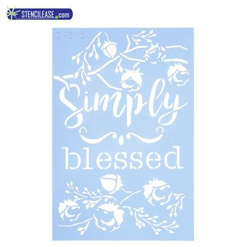 Simply Blessed Craft Stencil Stencil Crafts Painting Crafts Stencils