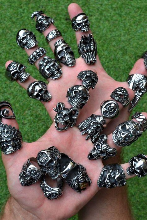 Badass jewelry, Skulls, Anchors, Native americain, Stones, Viking, Black jewelry and more!!!