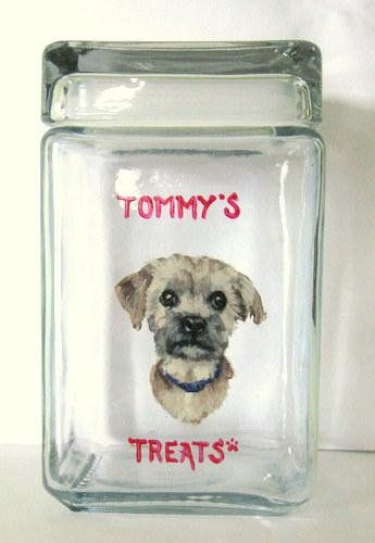 Yorkshire Terrier Mothers Day Dog Food Holder Pet Treat Jar