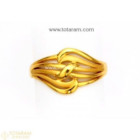 22k Gold Ring For Women 235 Gr5246 Buy This Latest Indian Gold Jewelry Design In 2 900 Grams Gold Rings Fashion Gold Ring Designs Unique Gold Wedding Rings