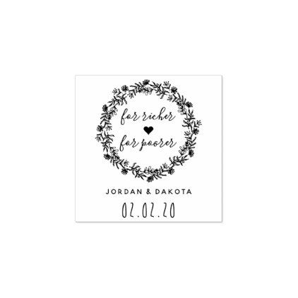 Create your own clear stylish modern save the date rubber stamp.