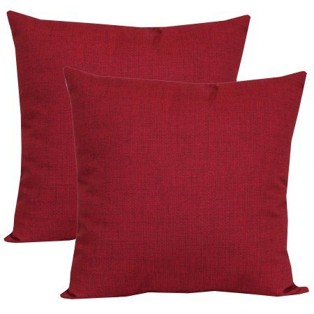 Mainstays Rionu Really Red 16 Outdoor Throw Pillow Set Of 2 Walmart Com Outdoor Cushions And Pillows Outdoor Throw Pillows Red Toss Pillows