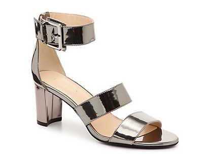 Womens block heel shoes, Gold block