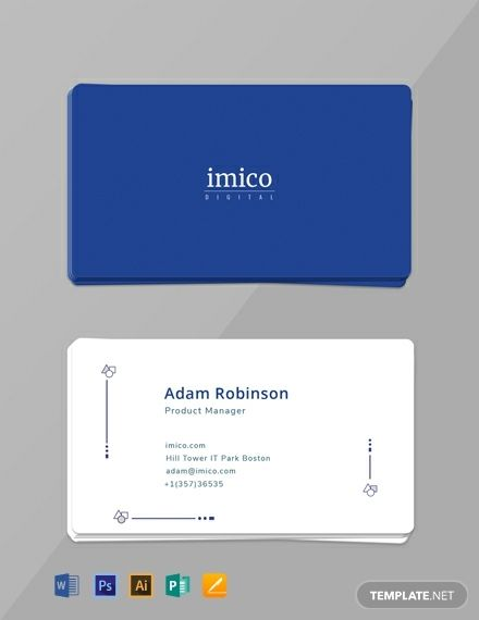 Free Tech Start Up Business Card With Images Business Card