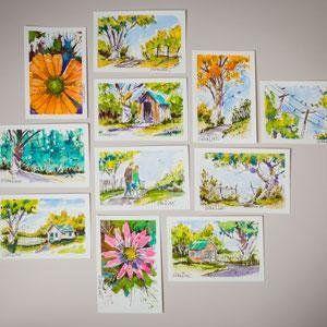 Amazon Com Strathmore 105 23 Watercolor Cards Announcement Size