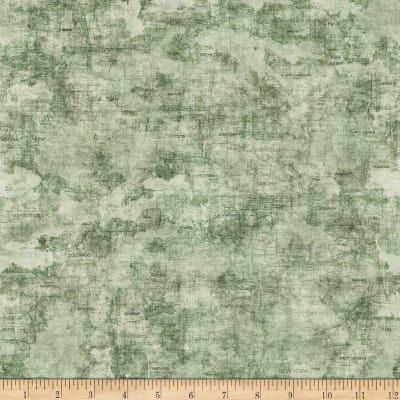 QT Fabrics Dan Morris Backcountry Map Sage | Fabrics I Want