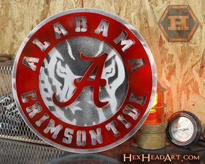 University Of Alabama Crest With Elephant 3d Vintage Metal Artwork Metal Art Decor Metal Artwork Vintage Metal