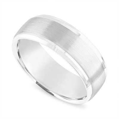 Brushed Finish Mens Wedding Band 8 Mm Mens Wedding Ring 14k White Gold Or Yellow Gold Or R Mens Gold Wedding Band Mens Wedding Bands White Gold Wedding Rings