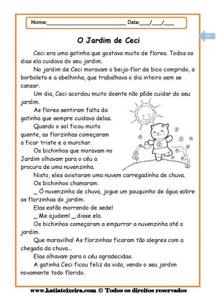 Leitura E Interpretacao De Textos Atividades De Alfabetizacao
