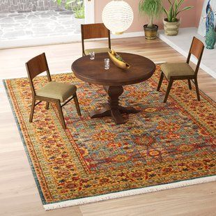 World Menagerie Rumsey Oriental Blue Area Rug Wayfair Blue Area Rugs Rugs Area Rugs