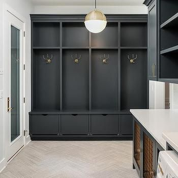 Black Mudroom Lockers With Black Shoe Drawers Mudroom Design