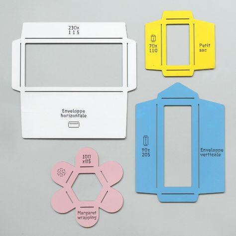 Laser cut wooden envelope templates, via Present & Correct