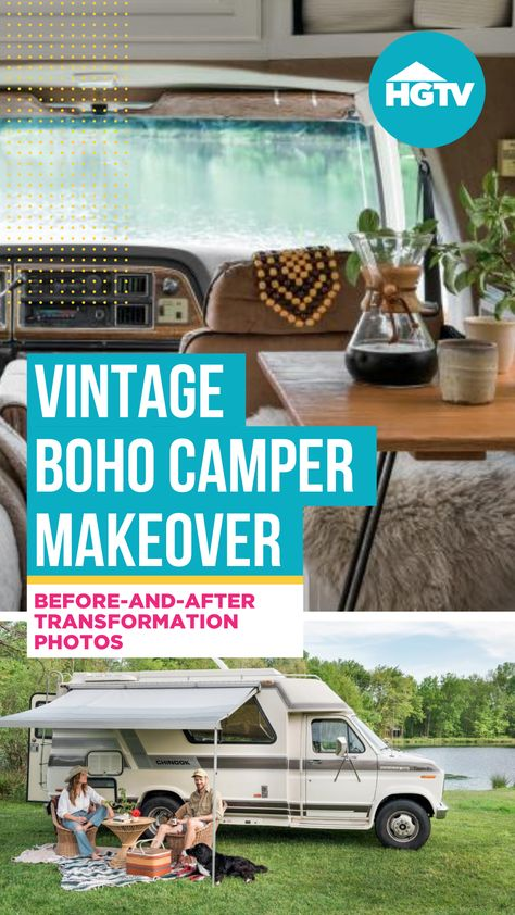 Stylist and decorator Courtney Favini Lichty transformed a 30-year-old camper into her own '70s-inspired boho dream home on wheels. 🚐 See the before-and-after pics and get ideas for your own mobile getaway.