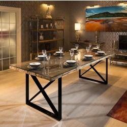 Massive 10 Seater Reclaimed Hardwood Dining Table 2 4 X 1 Stock