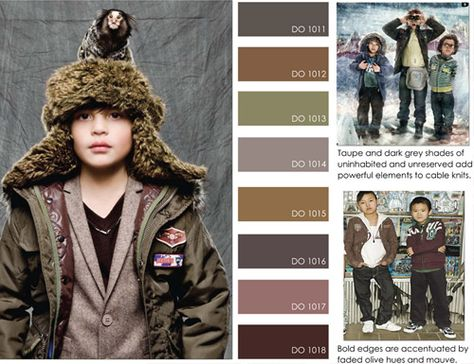women's contemporary market fall winter f/w 2012 2013, color trends, into the wild detail