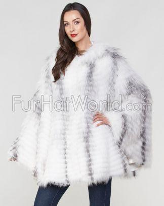 2b5dc6c9f Dorris Red Fox Fur Hooded Cape | Furs | Fox fur, Fur, Fur cape