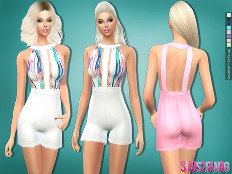 The Sims Resource: 216 - Colorful romper by sims2fanbg • Sims 4 Downloads
