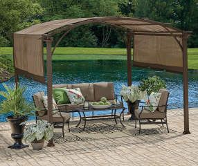 Wilson Fisher Verano Pergola 10 X 10 Big Lots Gazebo Big Lots Rustic Pergola Pergola