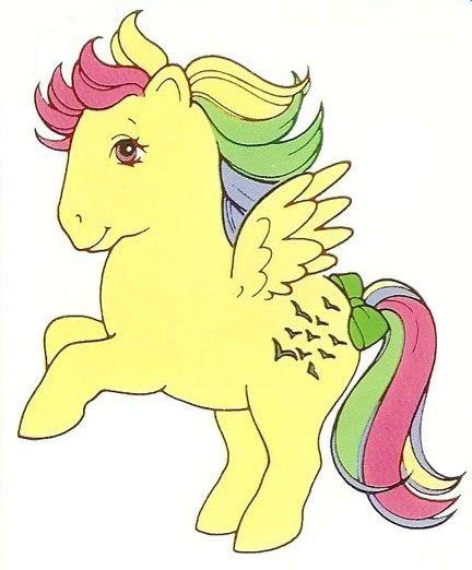Rainbow Ponies Skydancer My Little Pony Coloring My Little