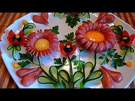 Ukrasheniya Iz Sosisok Decoration Of Sausages Ukrasheniya Iz Ovoshej