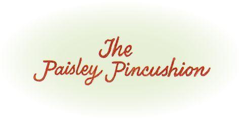 Paisley Pincushion | Paisley Pincushion