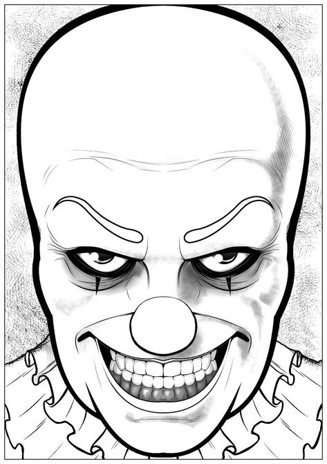 Coloriage Clown Ca.Would You Dare To Color This Horrible Pennywise The Clown