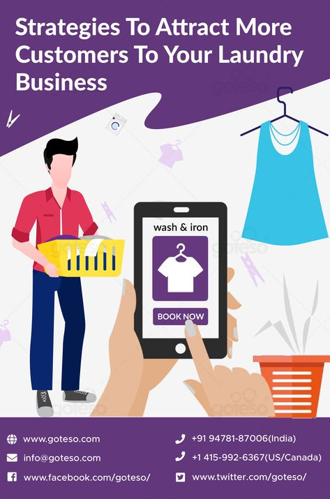 How to attract more customers to my laundry business?- This is the first question that comes in mind of every laundry business owner. Well, in this on demand apps era, the best way to widen your customer base is to invest in an online laundry service app. If you also want to boost your sales with an app, contact with the top laundry app developers at info@goteso.com  #appdevelopment #laundrydeliveryapp #laundrybusiness #mobileapps #mobileapplication #mobileappdevelopment