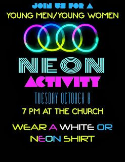 Black Light Party-Young Men/Young Women-youth group activity. Fun game ideas