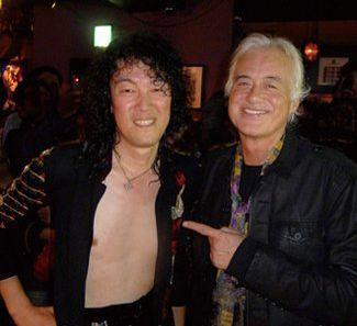 Jimmy Sakurai a tribute band 'Jimmy' and Pagey himself.