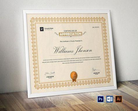 Certificate Template   Certificate Design   Word   Illustrator   Photoshop   Editable   Printable   Certificate of Achievement