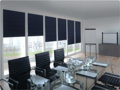 Office Blinds Conveniently Operated By Remote Control   Home Favorites    Pinterest   Office Blinds, White Blinds And Office Interiors