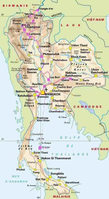 Carte Bali Thailande.Carte De La Thailande Travel In 2019 Thailand Map Country