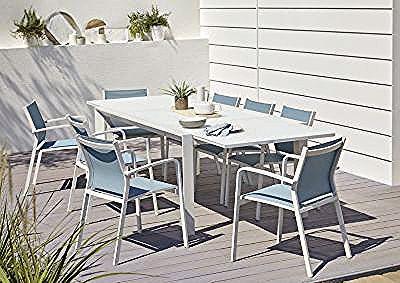 Lot Table De Jardin Aluminium Et Verre Blooma Bacopia 6 Fauteuils De Jardin In 2020 Outdoor Furniture Sets Outdoor Furniture Furniture Sets