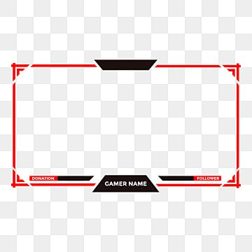 Or Twitch Face Cam Live Stream Overlay With Red Colors And Modern Design Game Stream Live Png And Vector With Transparent Background For Free Download Sobreposicoes Logotipo Do Youtube Icones De