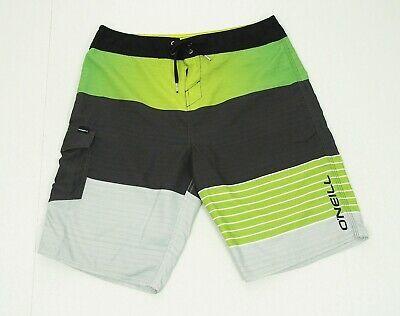 O'neill Green Striped Swimsuit Retro Surf Swim Board Shorts Mens 33 #fashion #clothing #shoes #accessories #mensclothing #swimwear (ebay link)