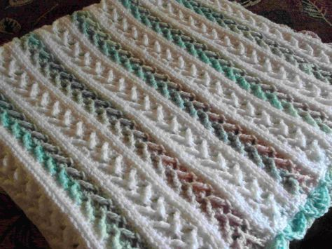 Arrow Stitch Crochet Afghan Pattern | FaveCrafts.com
